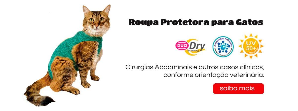 Roupa Protetora Gatos Castração