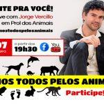 Live com Jorge Vercillo dia 31/07 às 19h30 #Somostodospelosanimais