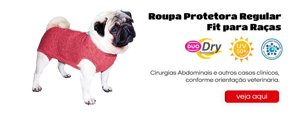 "<font style=""vertical-align: inherit;""><font style=""vertical-align: inherit;"">Roupa Protetora Duo Dry Fit Regular para Cães – Macho e Fêmea</font></font>"