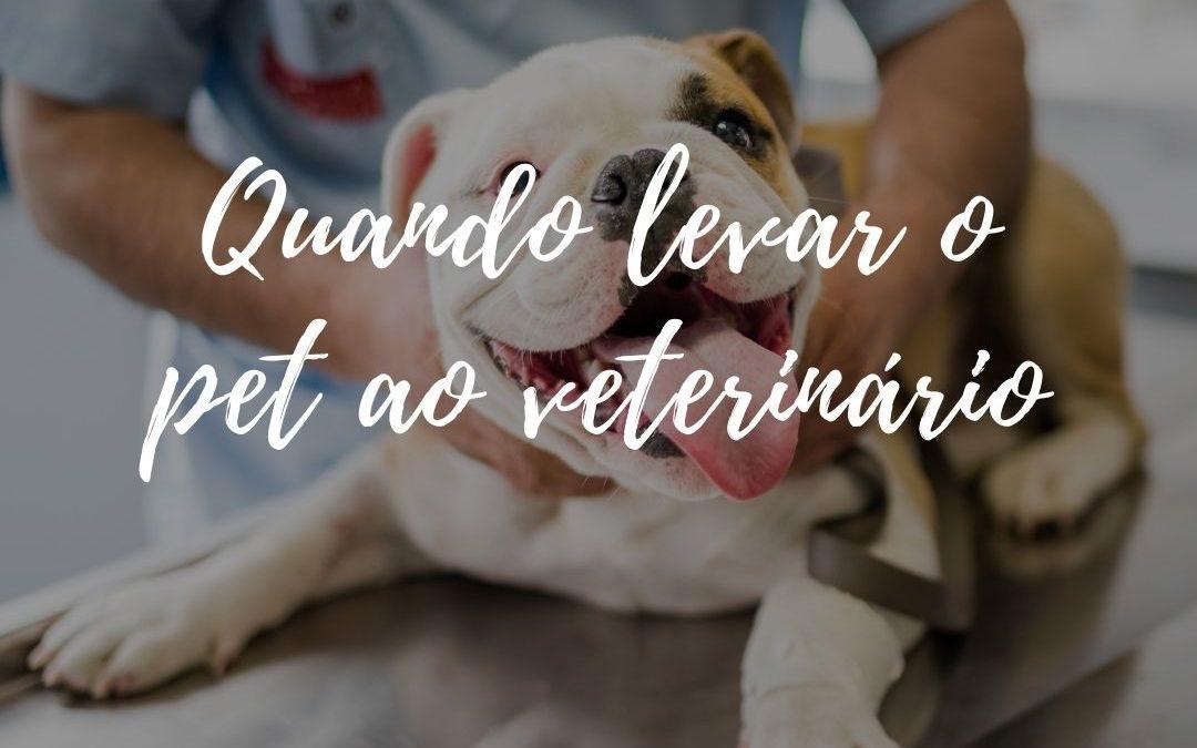 Quando devo levar meu pet ao veterinário?